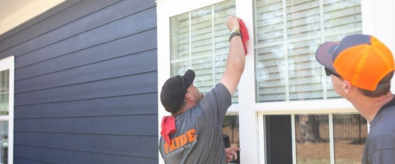 Window cleaning - during job